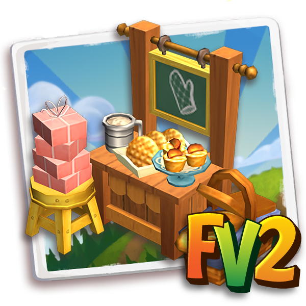 bldg general table bakesale t1 icon cogs 2 Farmville 2 Unreleased Items for this week (04/21)