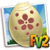 Carved Daisy Eggs